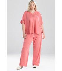 congo dolman pajamas / sleepwear / loungewear set, women's, purple, size l, n natori