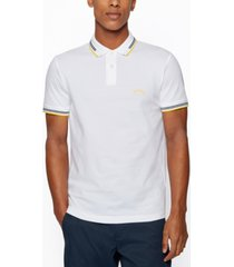boss men's curved logo slim-fit polo shirt