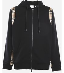 burberry cotton sweatshirt with vintage check inserts
