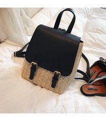 mochila de mujer/ kawaii mini mochila escolar mujer tejiendo mochila-negro