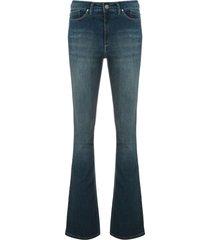 eva dark denim bootcut trousers - blue