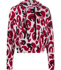 charles jeffrey loverboy relaxed-fit lost boy hoodie - red