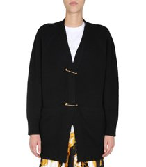 versace safety pin cardigan