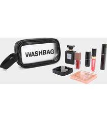 lavado esmerilado semitransparente de pvc letter bolsa
