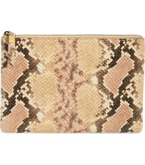 madewell the snake embossed leather pouch clutch -
