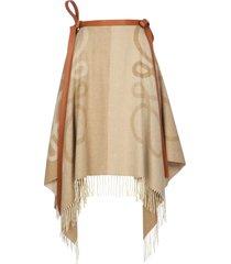 loewe anagram blanket long skirt