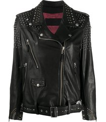 golden goose studded star biker jacket - black