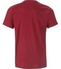 pyjamashirt ronde hals en korte mouwen van jockey rood