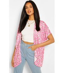 ditzy print kimono, pink