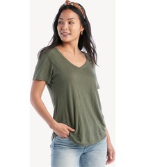 la made women's vintage tee in color: palm frond size xs fabric from sole society