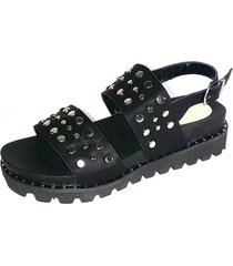 sandalia negra morena bsas