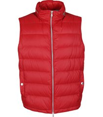 brunello cucinelli red padded gilet