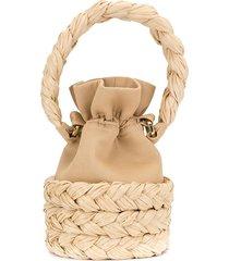 0711 small freja bucket bag - brown
