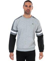 mens bi-material print sweatshirt