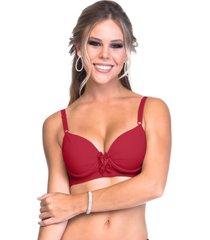 suti㣠sempre sensual lingerie drapeado laã§os vermelho - vermelho - feminino - dafiti
