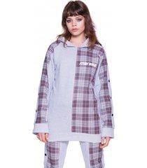 bluza dresowa in check print