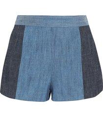 alice + olivia denim shorts