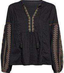 eloise blouse blouse lange mouwen zwart odd molly