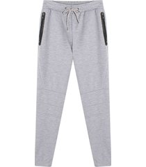 pantalon jogger unicolor color gris, talla m