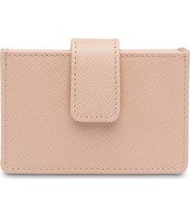 prada structured card holder - pink