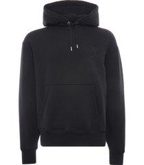 ami ami de coeur hoodie   black   a21hj058-blk