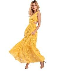 vestido primia amazonas mostaza