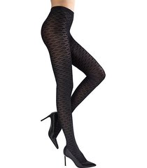 geo diamond fashion tights
