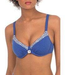 bikini selmark laberinto mare blauw nestelbadpak topje