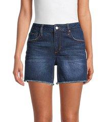 easy frayed denim shorts