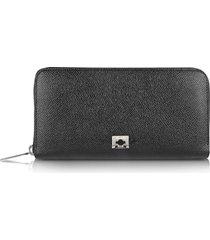 pineider designer wallets, city chic - women's zip around calfskin wallet