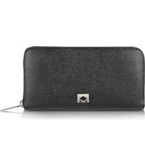 pineider designer wallets, city chic - women's zip around calfskin wallet