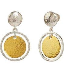 lush silver drop earrings