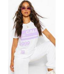 99 cali slogan t-shirt, wit