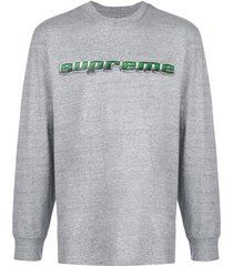 supreme chrome logo t-shirt - grey