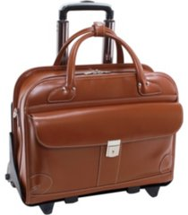 "mcklein lakewood, 15"" fly-through checkpoint-friendly ladies laptop briefcase"