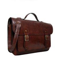 bolsa line store leather satchel grande couro marrom avermelhado.