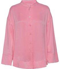 rodebjer piata blouse lange mouwen roze rodebjer