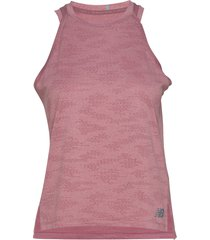 q speed jacquard tank t-shirts & tops sleeveless rosa new balance