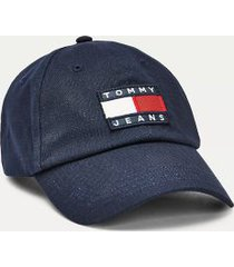 tommy hilfiger men's tommy jeans flag cap black iris -