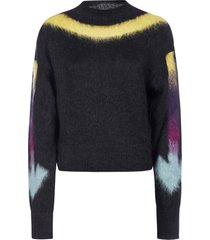 off-white fuzzy arrows mohair and alpaca blend sweater
