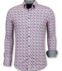 overhemd lange mouw tony backer stretch blouse print