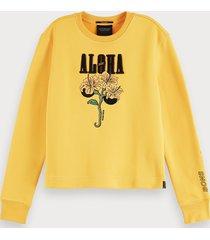 scotch & soda sweater met aloha-artwork