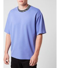 acne studios men's logo jacquard t-shirt - dusty purple - l