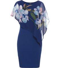 abito con mantellina in chiffon (blu) - bodyflirt