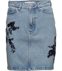 pamela skirt emb 9813 kort kjol blå samsøe samsøe