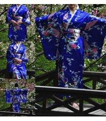 retro oriental japanese yukata kimono obi cosplay robe geisha dress sleepwear