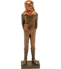 escultura decorativa de resina cachorro arnold