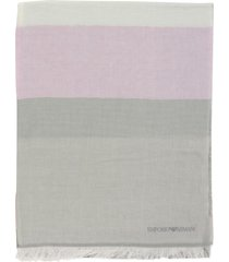 emporio armani scarf emporio armani scarf with multicolor bands