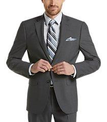 calvin klein x-fit medium gray slim fit suit