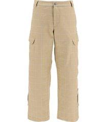jacquemus checkered cargo pants